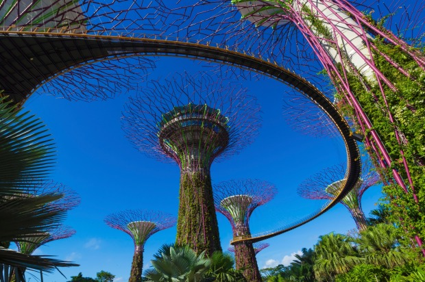 Futuristic Gardens by the Bay in Singapore is the 14th most checked-in destination on Facebook.