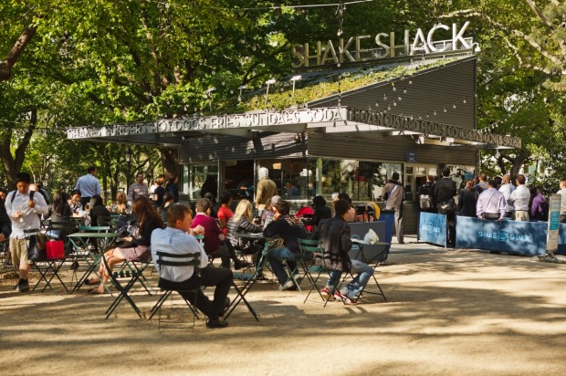 Madison Square Park in New York City - featuring popular fast-food chain Shake Shack - is the 17th most checked-in place ...