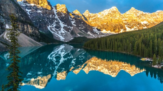 Tourism to Canada has massively increased: Moraine Lake in the Banff National Park.