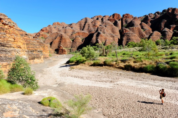 Sandstone towers: Bungle Bungle Range in Purnululu National Park, Western Australia.