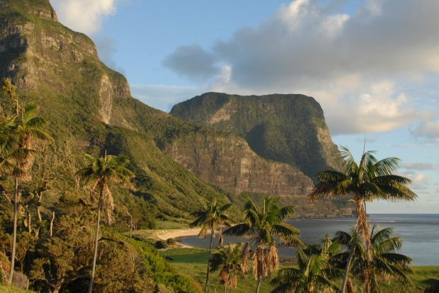 Popular birdwatching destination: Lord Howe Island, Australia.