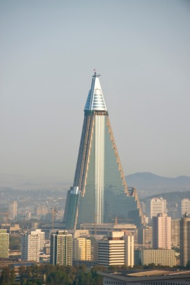 The Ryugyong Hotel, North Korea: The largest structure in Pyongyang and indeed North Korea, has often been referred to ...