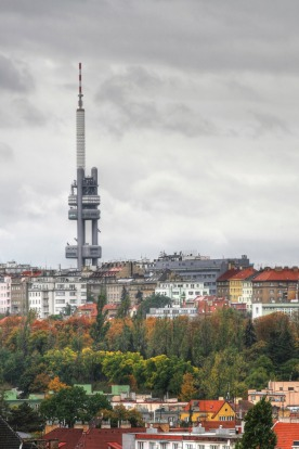 Prague's Zizkov Television Tower: Built between 1985 and 1992, the tower is a communist-era building resented by locals ...