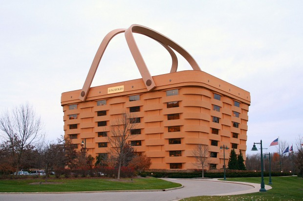 Longaberger Basket Company headquarters, Newark, Ohio: This wacky basket case of a company manufacture handcrafted maple ...