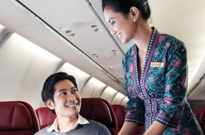 A comfortable flight: Malaysian Airlines.