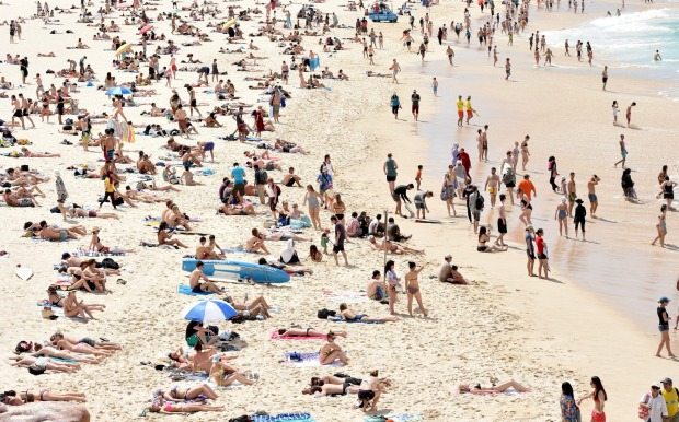 Summer at Bondi Beach.