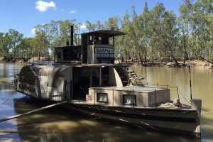 The PS Barmah, moored at Barmah, where it was built in 1975.