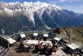 Restaurant Le Panoramic at Chamonix has glorious views of Mont Blanc among others.