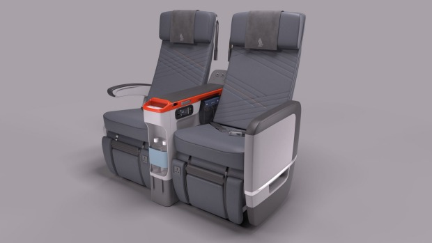 Singapore Airlines' premium economy seating.