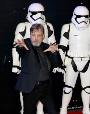 Mark Hamill, who plays Luke Skywalker in The Force Awakens, at the European Premiere in London.