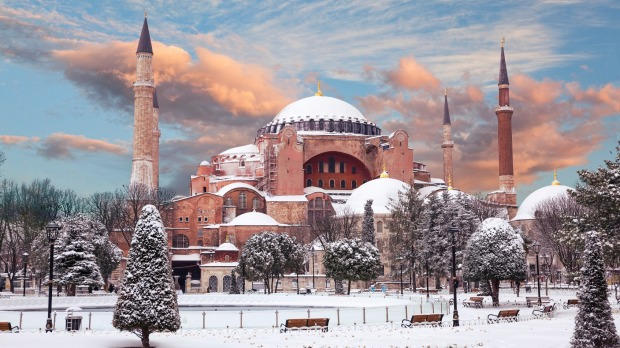 Hagia Sophia in winter.