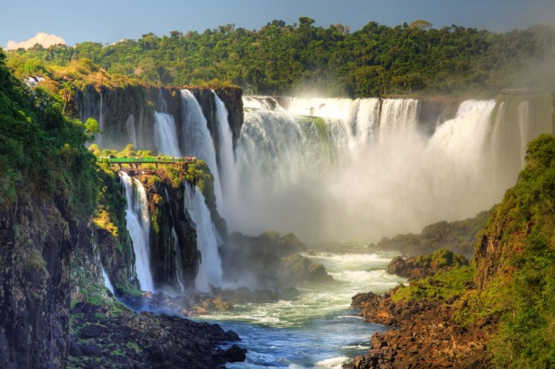 IGUAZU, ARGENTINA/BRAZIL: This site includes the most spectacular and interesting waterfall in the world, Iguazu Falls, ...