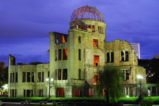 HIROSHIMA, JAPAN: As a memorial to the first atomic bomb blast used in war, this is a very sad site with a strong ...