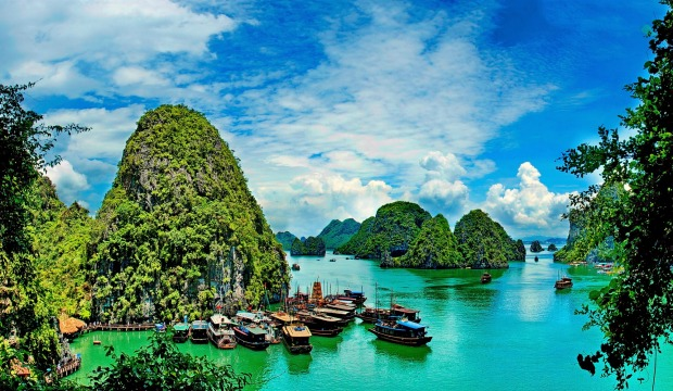 HALONG BAY, VIETNAM: The iconic marine karst landscape and waterway never fails to impress the visitor, especially when ...