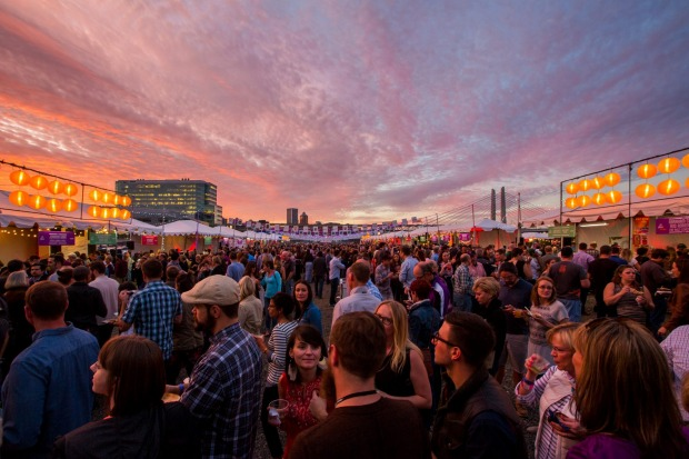 Sunset at Night Market, Portland's Feast Festival, 2015.