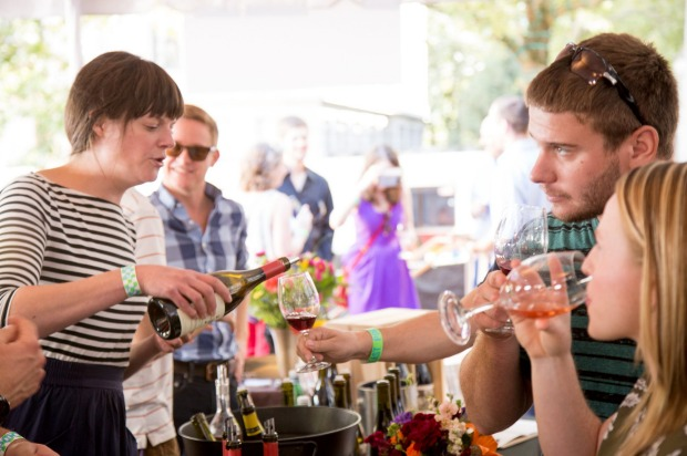 Wine at the Grand Tasting at Portland's Feast Festival, 2015.