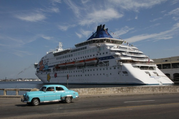 Cruise Ship in Havana, Cuba.