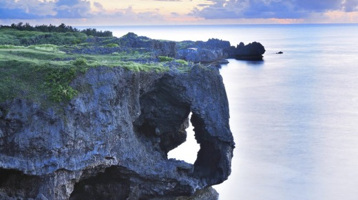 The coastline of Okinawa, Japan's far-flung tropical island grouping.