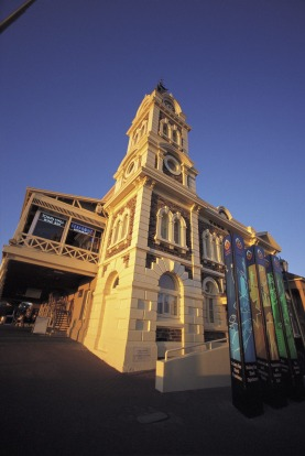 The Glenelg Town Hall: The Bay Discovery Centre is located upstairs.