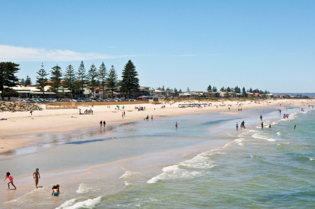 Henley Beach is the western end of the Linear Park trail.