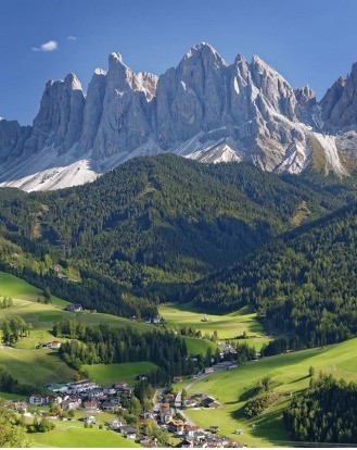 The village of Santa Maddalena in Italy's Dolomites region with the teeth of the Odle group behind. By Traveller ...