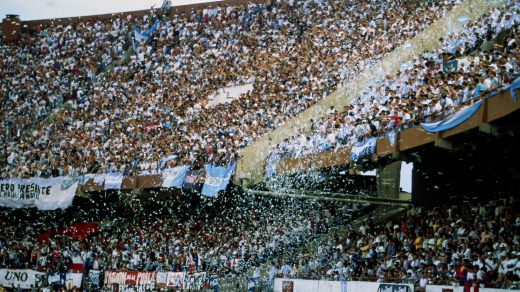 A new level of sports crazy: football fans at River Plata Stadium in Buenos Aires, Argentina.