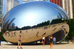 Anish Kapoor's Cloud Gate sculpture in Millennium Park.