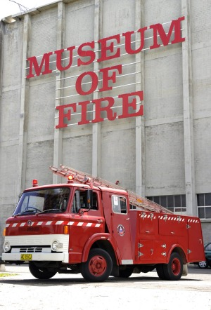 The bunker-like exterior of the Museum of Fire in Penrith hides a fascinating collection of firefighting equipment.
