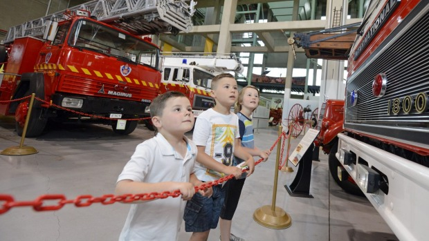 Young visitors get a close-up view of the attractions.