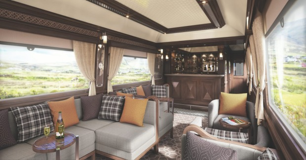 The observation car on the Belmond Grand Hibernian.