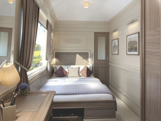 Cabin on the Belmond Grand Hibernian.