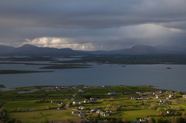 The view from Croagh Patrick, Ireland.