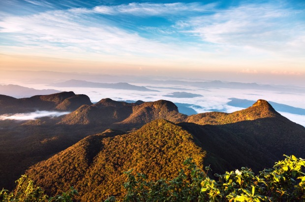 The view from Adam's Peak in Sri Lanka.