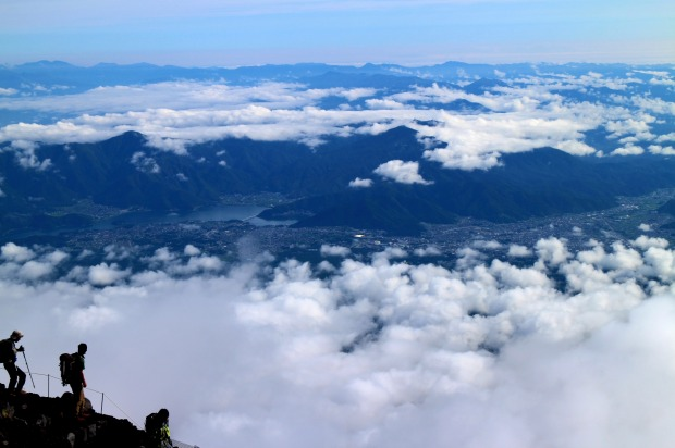 On top of Mt Fuji, Japan: As the perfectly conical backdrop to Tokyo, a city of 13 million people, it's little wonder ...