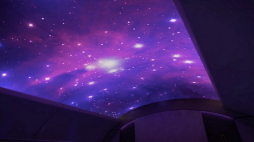 A soothing galaxy of stars projected onto the plane ceiling will help passengers sleep.
