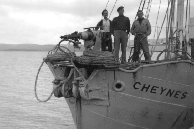 Cheynes crew members. Photo taken in the early 1950s.