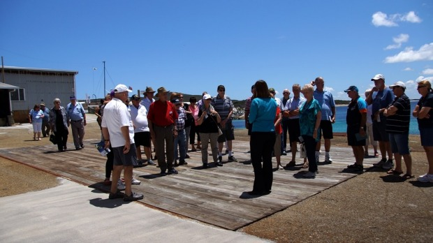 A guided tour at Historic Whaling Station.