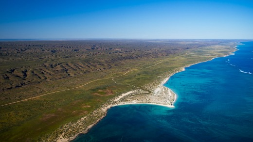 Cape Range National Park from the air.