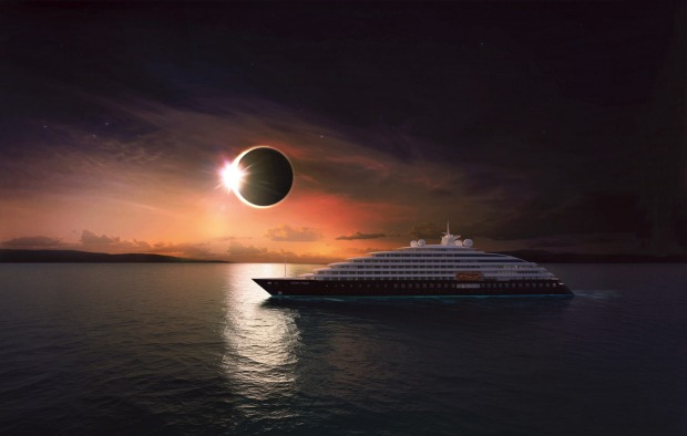 Scenic Eclipse at sea.