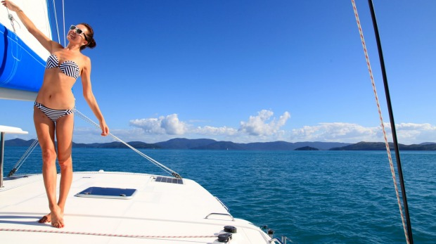 Sailing in Queensland's Whitsundays.