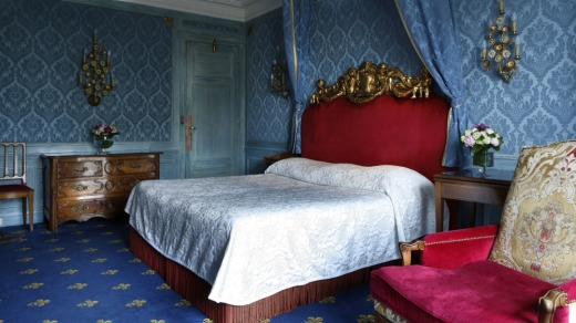 A bedroom at the Hotel Le Negresco, Nice. France.