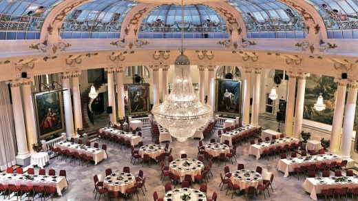 Dinner under the dome at Hotel Le Negresco, Nice.