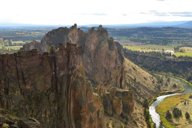 Aerial view of Smith Rock, Oregon.