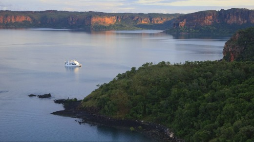 Aurora Expeditions' Coral Expeditioner I in the Kimberley.