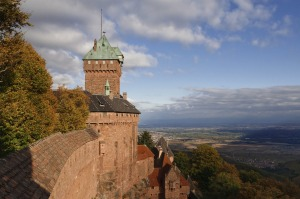 The castle of Haut-Koenigsbourg in Alsace, France.