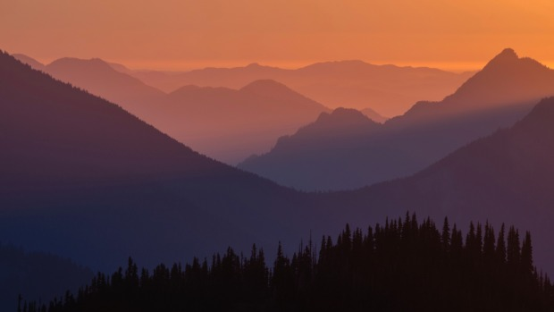 A Hurricane Ridge sunset, Olympic National Park.
