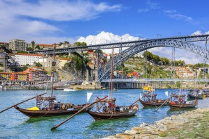 The Dom Luis I Bridge over the Douro is a Porto landmark.