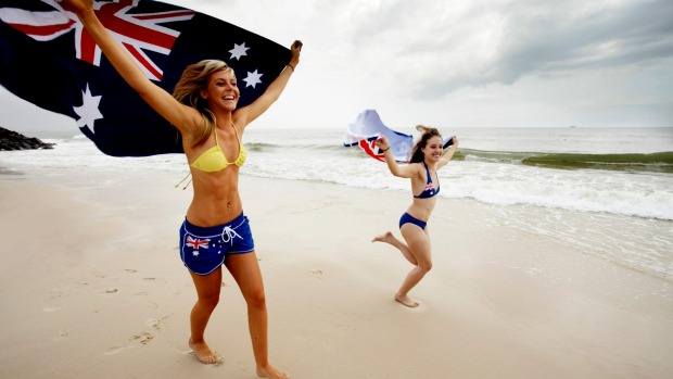Patriotism is on the rise in Australia.