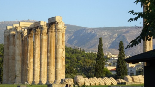 The Temple of Olympian Zeus in Athens.