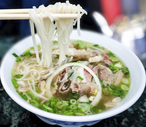 Bowl of pho, a Vietnamese beef noodle soup: There's nothing quite like the smell of this fragrant noodle soup in the ...